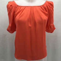 Joie Orange Orange Blouse XS