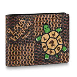 Louis Vuitton Nigo LV Made Turtle Giant Damier Bifold Multiple 860476