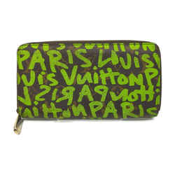 Louis Vuitton Neon Green Stephen Sprouse Graffiti Long Zippy Wallet Zip Around863325