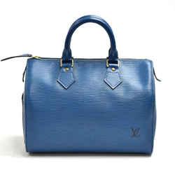 Louis Vuitton Speedy 25 Blue Epi Leather City Handbag LU166