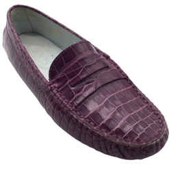 Tod's Purple Crocodile Flats