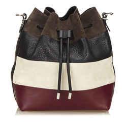 Vintage Authentic Proenza Schouler Black  Leather Shoulder Bag Usa