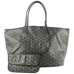 Goyard Black Chevron St Louis PM Tote Bag with Pouch 637gy617