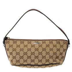 Gucci Beige/Dark Brown GG Canvas Boat Pochette Bag