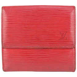 Louis Vuitton Red Epi Leather Elise Compact Wallet 178lvs712