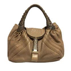 Brown Fendi Spy Leather Handbag Bag