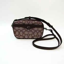 Coach Signature F38687 Women's Jacquard,Leather Fanny Pack,Shoulder Bag BF533258