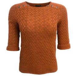 Chanel Cashmere Silk Burnt Orange Sweater