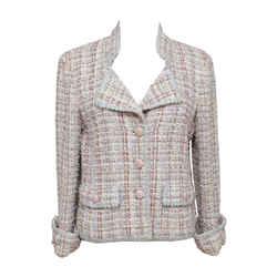 Chanel Tweed Lesage Jacket Blazer Coat Multi-color Cc Gold 40 2013 13c Runway