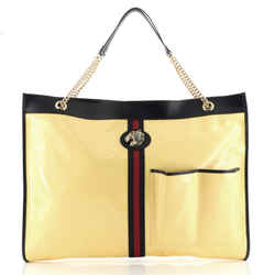 Rajah Chain Tote GG Coated Canvas XL