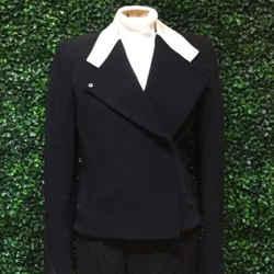 Helmut Lang Size Small Black & Cream Jackets