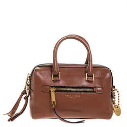 Marc Jacobs Brown Leather Recruit Satchel