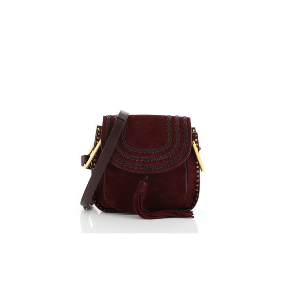 Hudson Handbag Whipstitch Suede Small