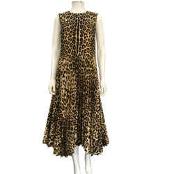 Red Valentino Leopard Pleated Skirt Size 6/42