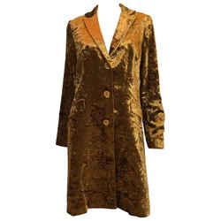 Etro Contemporary Gold Crushed Velvet Jacket