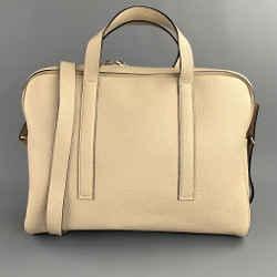 CALVIN KLEIN COLLECTION Beige Pebble Grain Leather Cross Body Handbag