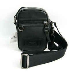 Coach Cross Body F72963 Men's Leather Sling Bag Black Bf505474