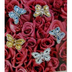New St John Knits Vintage Pin Brooch Butterfly 24kgp