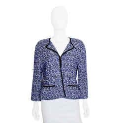 St. John | Blue Tweed Jacket