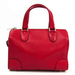 Valextra Mini Boston V5C14 Women's Leather Handbag Red BF523083