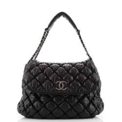 Bubble Shoulder Bag Quilted Lambskin Large