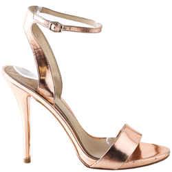 B Brian Atwood Metallic Platform Evening Sandals Catania High Heel