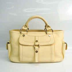 Celine Boogie Women's Leather Handbag Cream BF523347
