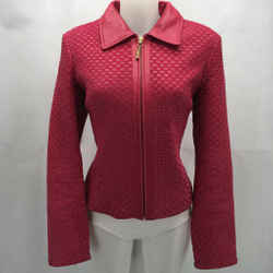 St John pink Leather Coat Medium