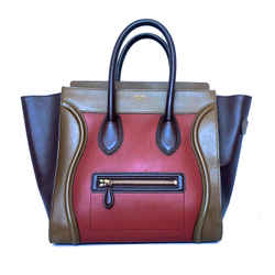 CELINE LARGE PHANTOM LUGGAGE BAG IN BEAUTIFUL RICH EARTH TONES
