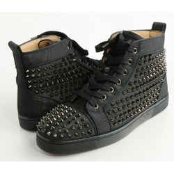 Christian Louboutin Louis Allover Spikes High Top Sneakers