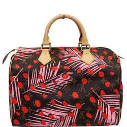 Louis Vuitton Speedy 30 Jungle Dots Palm Springs Satchel Bag Brown