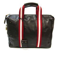 Bally Taprus Men's Leather Briefcase Brown,Red Color BF535940