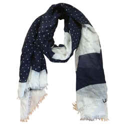 Marc Jacobs Navy and White Scarf/Wrap