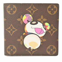 Auth Louis Vuitton Louis Vuitton Monogram Panda Portofeuil Marco Wallet Brown Pv