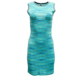 Missoni Turquoise Keyhole Short Casual Dress