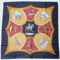 HERMES 1987 Vintage Ecole Francaise D'Equitation Silk Scarf