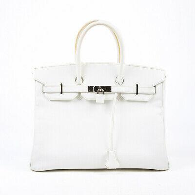 Hermes Birkin Retourne 35 White Epsom Leather Bag