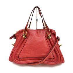 Chloe Red Leather Paraty 2way Shoulder Bag 863412