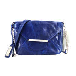 Badgley Mischka | Blue Leather Crossbody