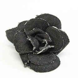 Chanel Camellia Cotton Corsage Black BF532443