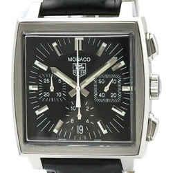 Polished TAG HEUER Monaco Chronograph Steel Automatic Watch CW2111 BF506453