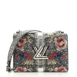 Twist Handbag Limited Edition Floral Print Epi Leather MM