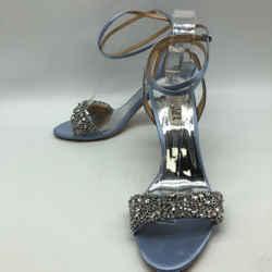 Badgley Mischka Blue Rhinestone Heel 8.5