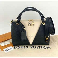 LOUIS VUITTON V Tote BB Monogram Empriente Leather Noir Hand Shoulder Bag A751