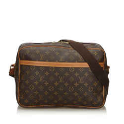 Vintage Authentic Louis Vuitton Brown Monogram Reporter GM France