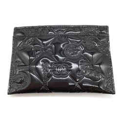 Chanel Black Embossed Patent Card Case