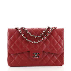 Vintage Classic Single Flap Bag Quilted Caviar Jumbo