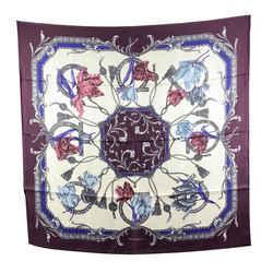 Salvatore Ferragamo Purple Grace Silk Scarf 90 x 90 cm