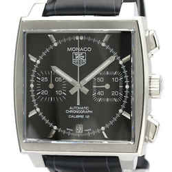 Polished TAG HEUER Monaco Chronograph Steel Automatic Watch CAW2110 BF521595