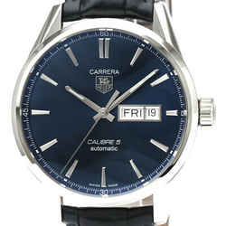 Polished TAG HEUER Carrera Calibre 5 Day Date Automatic Watch WAR201E BF525832